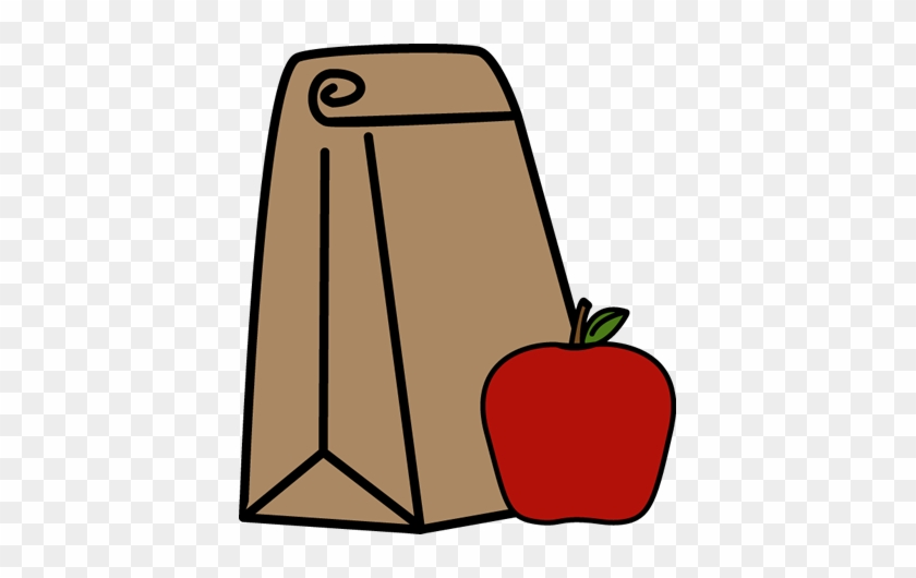 School Lunch Bag - Sack Lunch Clip Art #20824