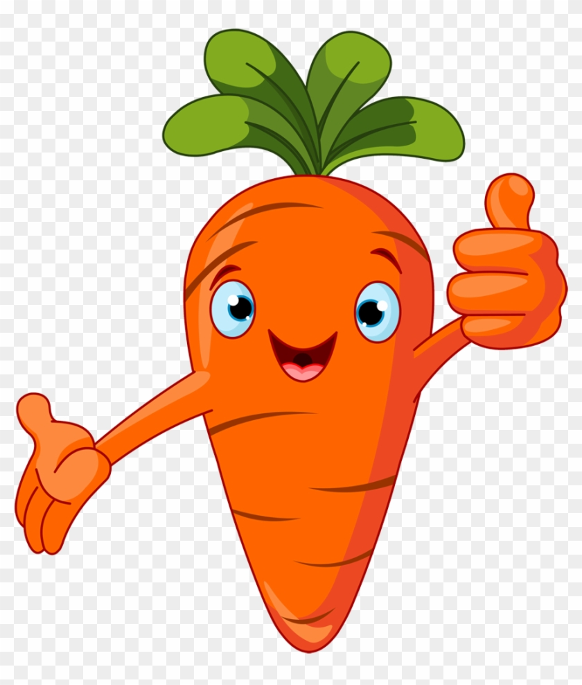 Fruit Clipart Carrot - Cartoon Vegetables #20840
