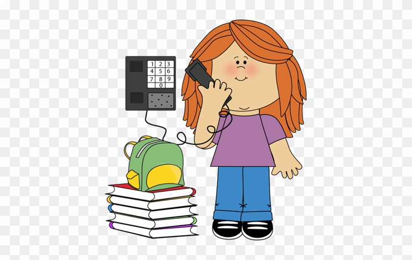 Classroom Phone Monitor - Clipart On The Phone #20851