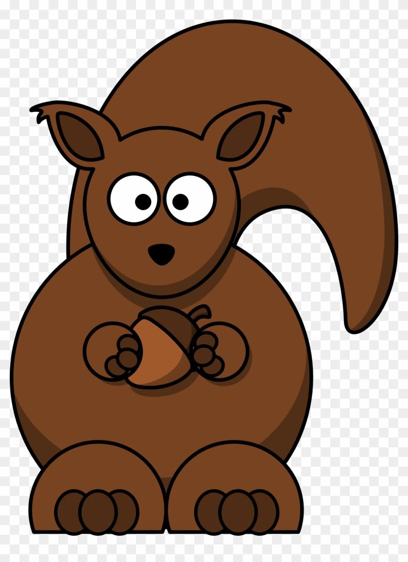 Clear - Cartoon Squirrel #20856