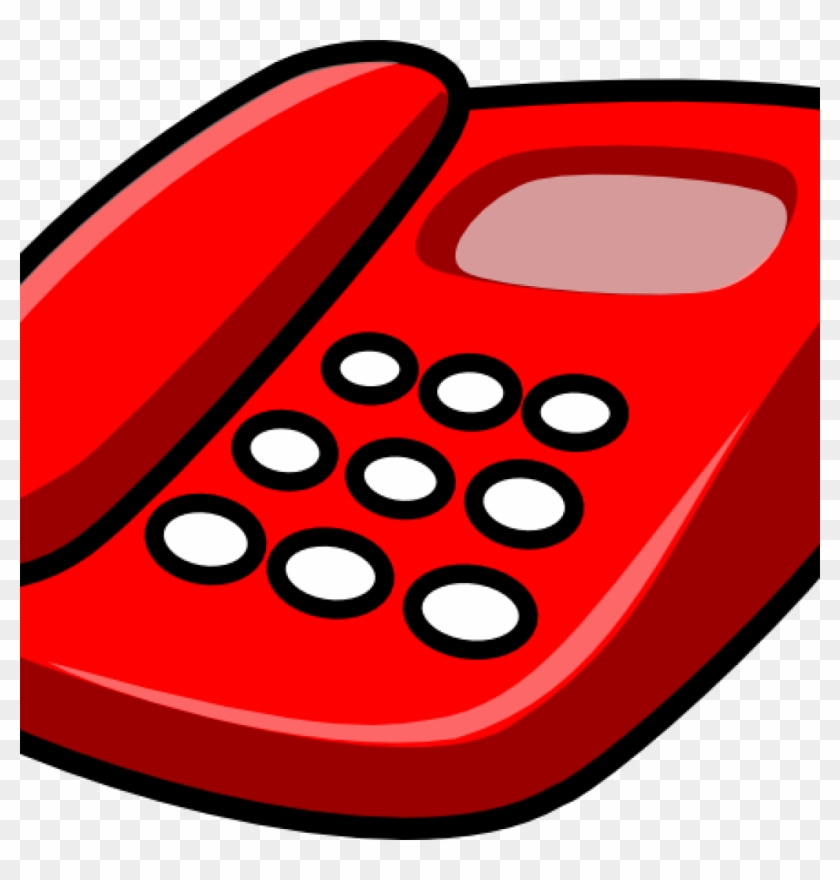 Phone Clipart Free Red Telephone Clip Art Free Vector - Telephone Clip Art #20868