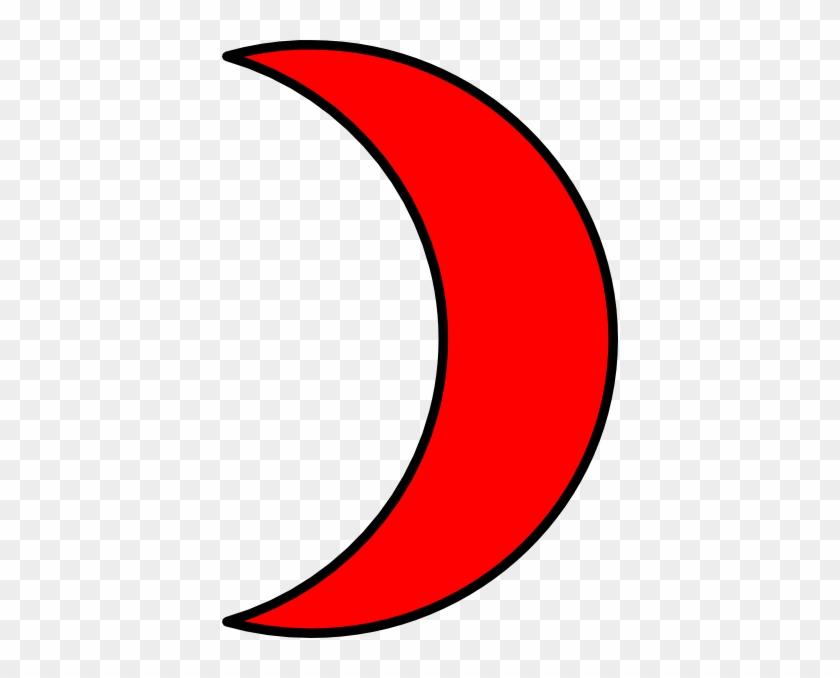Moon Clip Art - Red Moon Clip Art #20878