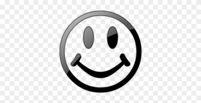 Smiley Face Clip Art Black And White 018726 - Smiley Symbol Black And White #20888