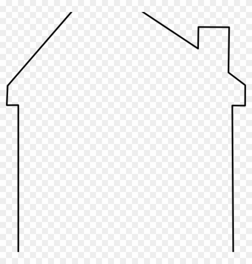 House Outline Clipart House Abstract Roof Clip Art - Line Art #20890