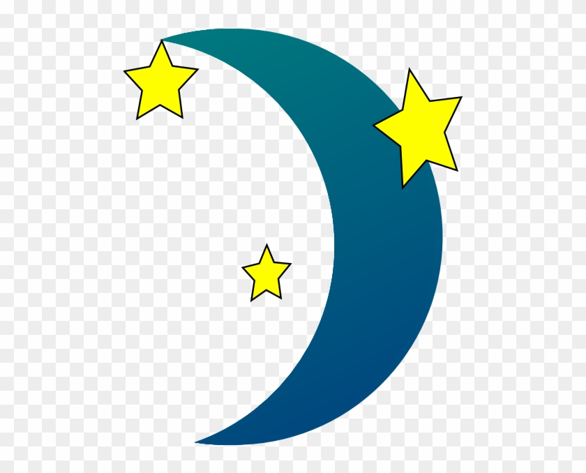 Happy Moon Clipart Free Images - Night Time Stars Clipart #20894