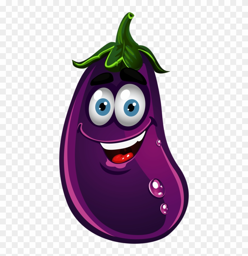 Image Fruit - Eggplant Clipart With Face #20922