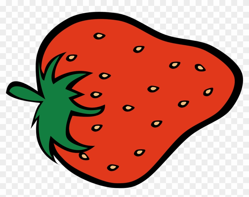 Strawberry Food Fruit Fresh Transparent Image - Clipart Of A Strawberry #20924