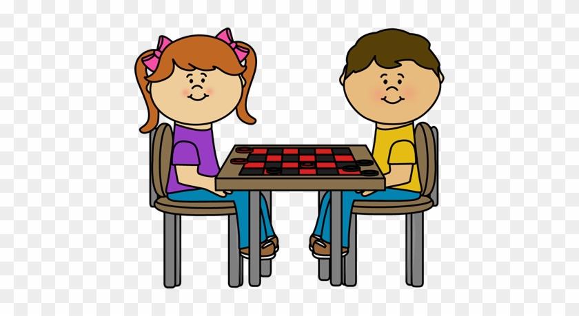 Kids Checker Table Clip Art - Checkers Clipart #20940