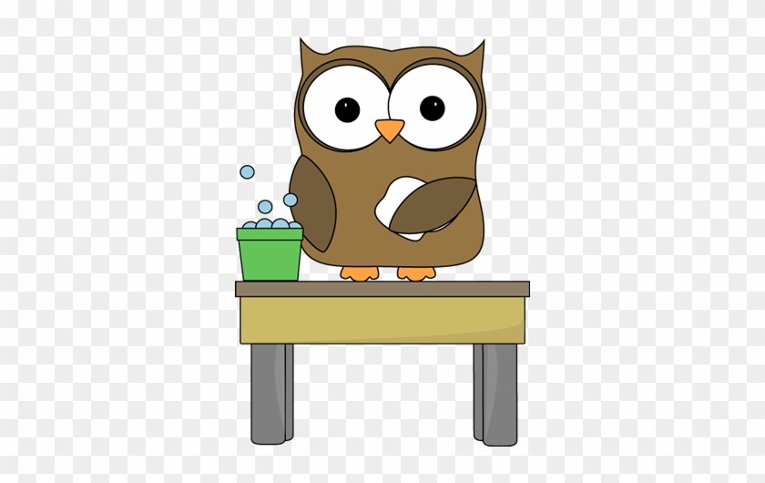 Owl Table Washer - Clipart On The Table #20960