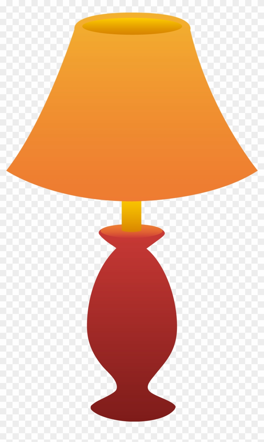 Clipart Of Lamp Red Table Free Clip Art - Lamp Clipart Transparent Background #20980