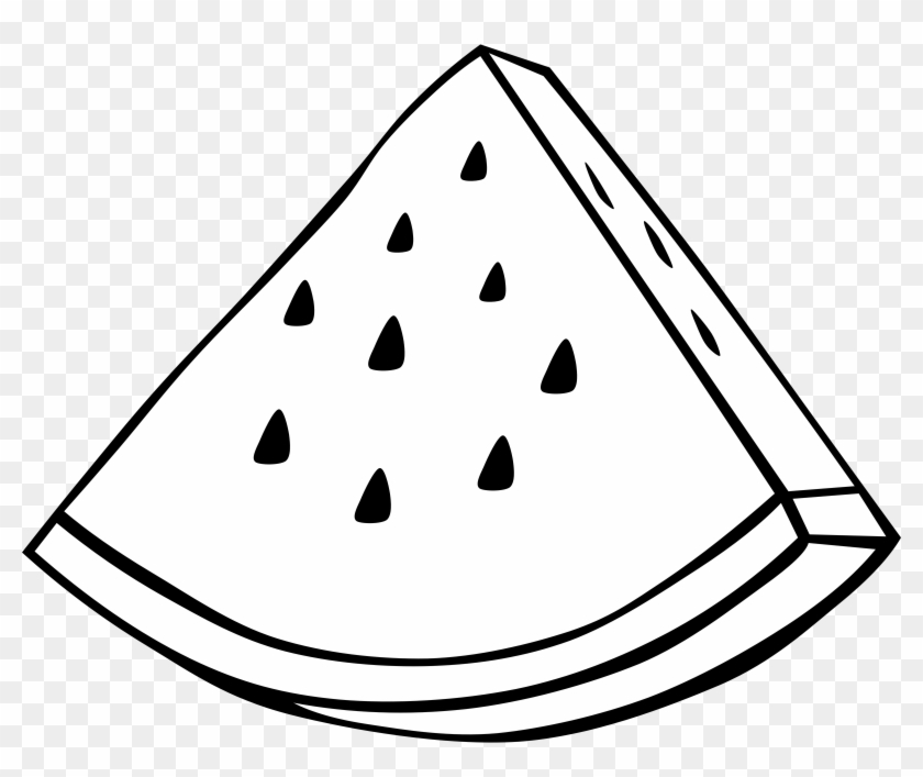Clipart Simple Fruit Watermelon - Fruit Clipart Black And White #20971