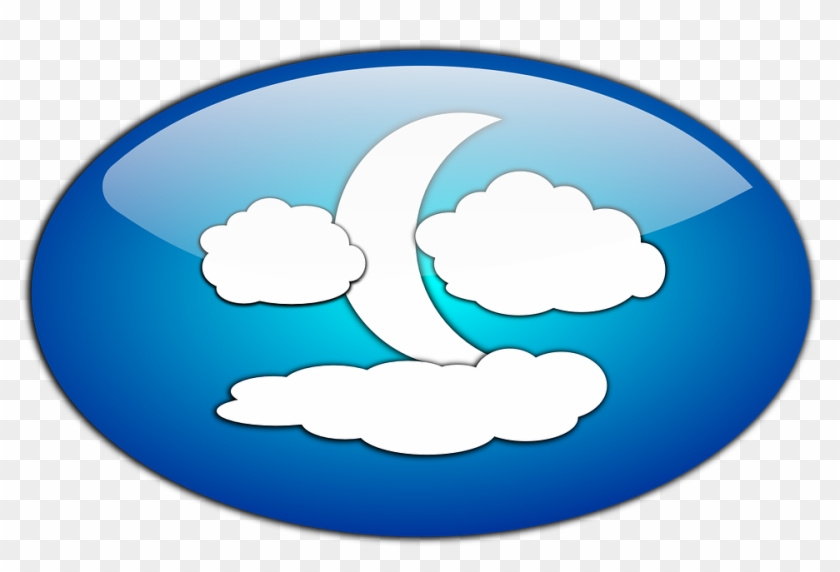 And The Moon - Clouds Moon And Night Clip Art #20993