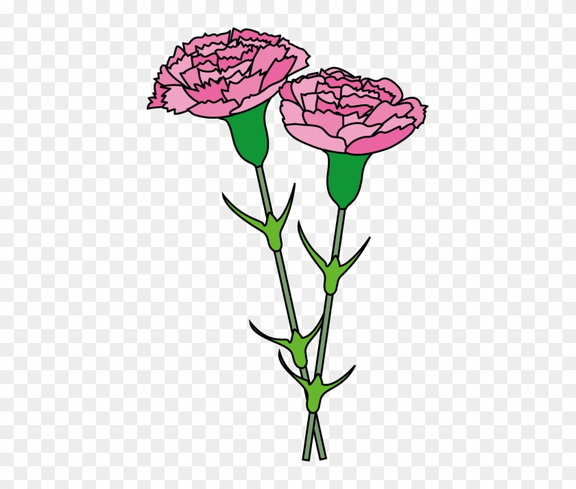 Carnation Cliparts - Pink Carnation Clip Art #20997