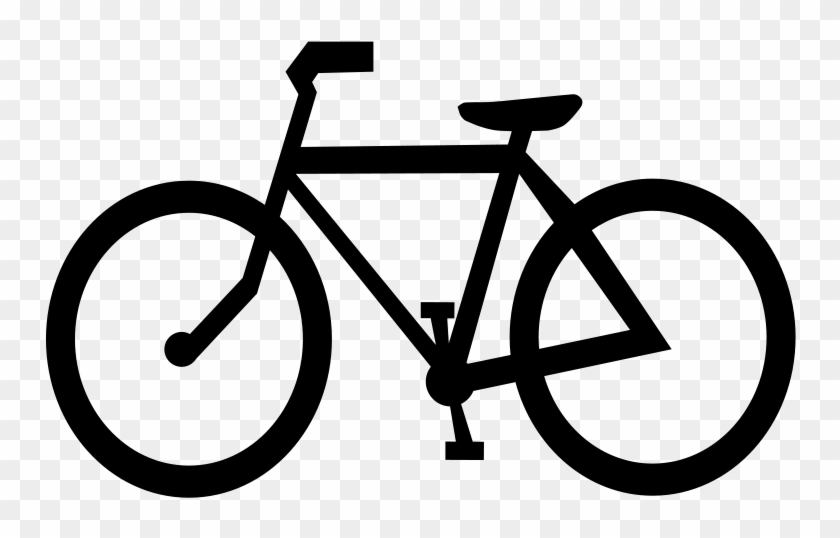 Bicycle Cycling Clip Art Download - Bike Outline Stainless Steel Travel Mug #20998