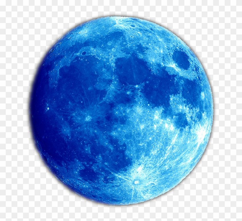 Blue Planet Moon Png Image - Blue Full Moon Png #21041