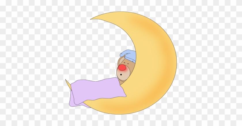 Bear Sleeping - Bear Sleeping In Moon #21090