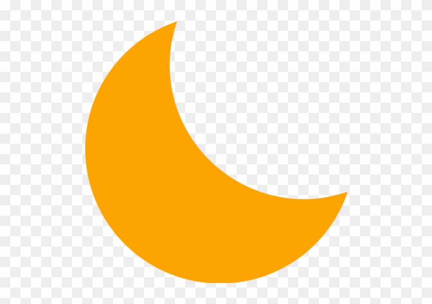 Orange Moon 4 Icon - Orange Moon Icon Png #21102