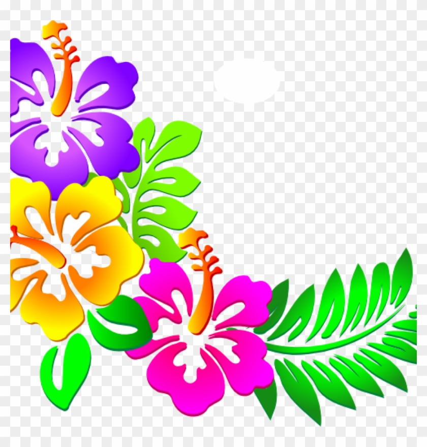Hawaii Images Clip Art Hawaiian Clip Art Free Downloads - Clipart Flower Border Png #21125