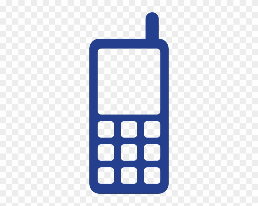 Free Icons Png - Cell Phone Logo Blue #21154