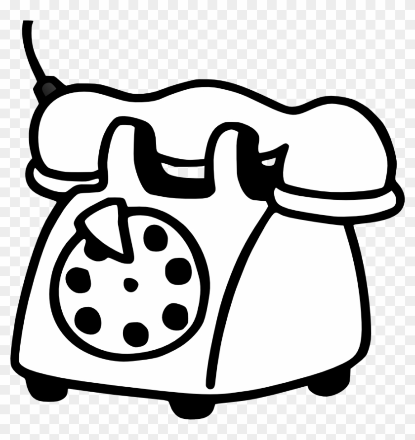 Telephone Clipart White Png - Telefone Para Colorir #21158