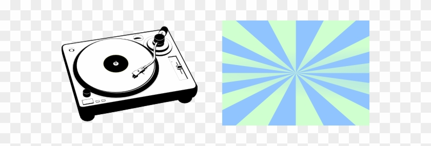 Turntable Clip Art At Clker - Record Player Clipart #21182