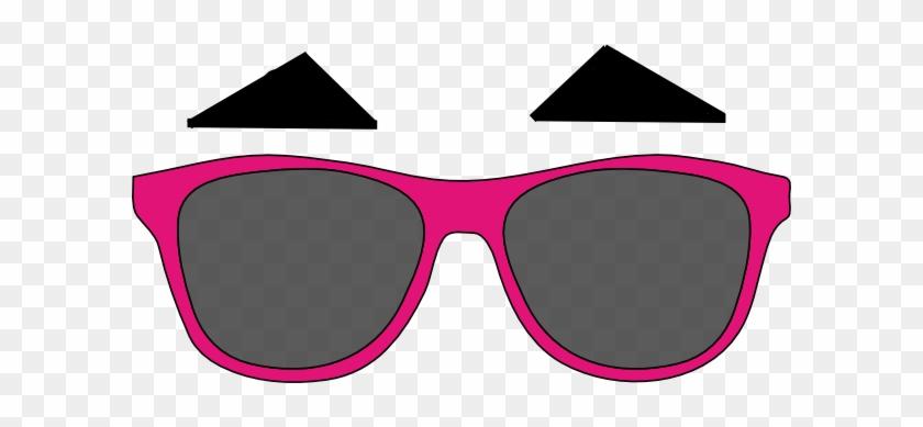 Darren Criss Eyebrows And Sunglasses Clip Art - Darren Criss Pink Sunglasses Png #21187