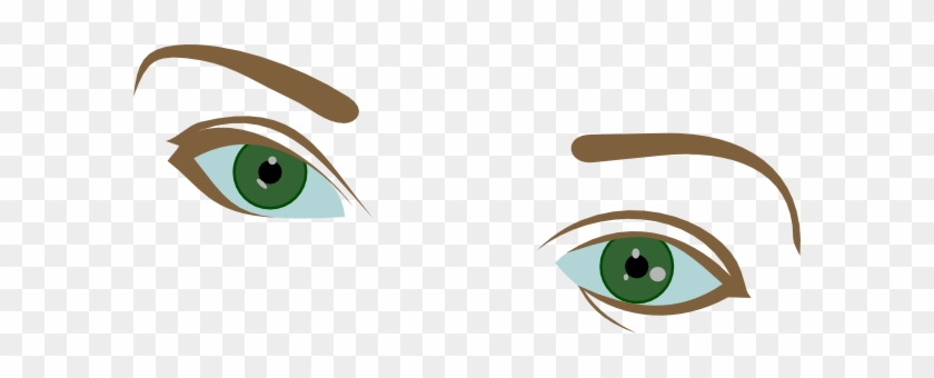 Eyes And Eyebrows Clip Art - Brown Eyebrows Clipart #21211