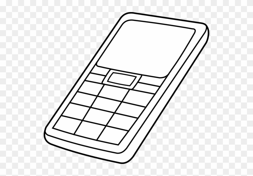 Phone Clip Art - Drawing Of Cellphone #21213