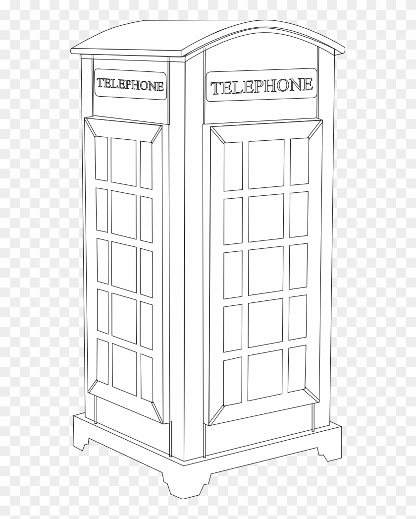 Telephone Clip Art Download - Public Phone Booth In Black #21238