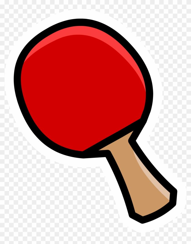 Ping Pong Paddle Pin - Ping Pong Paddle Clip Art #21241