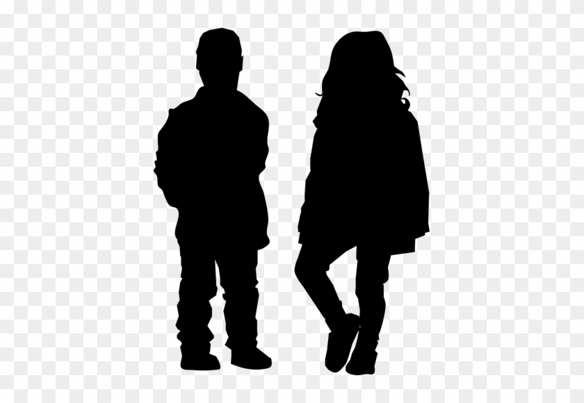 Boy And Girl Silhouette Public Domain Vectors - Old Couple Holding Hands Silhouette #21240
