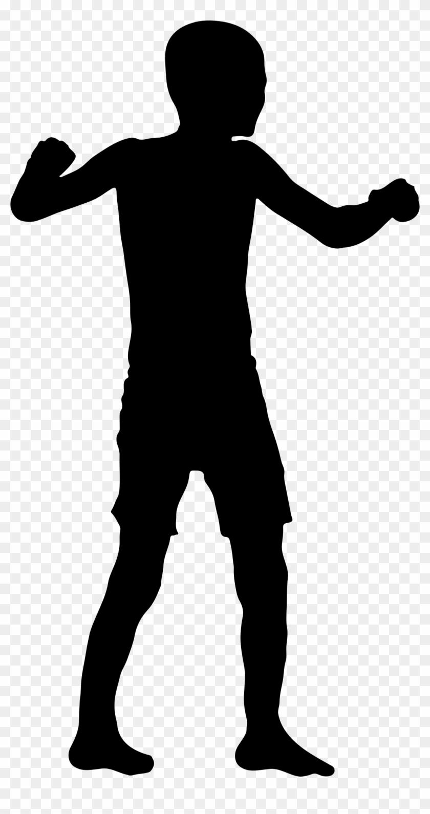 Clip Art Boy Silhouette Clip Art - Transparent Boy Silhouette Png #21246