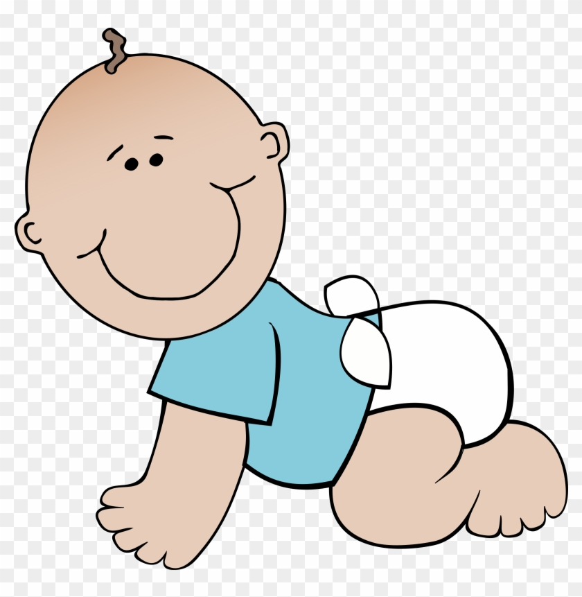 Baby Boy Crawling - Crawling Baby Clipart #21275