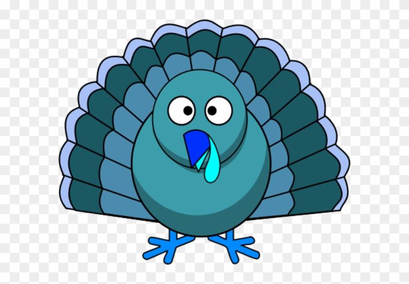 Thanksgiving Turkey Vector Clip Art - Blue Thanksgiving Clip Art #21285
