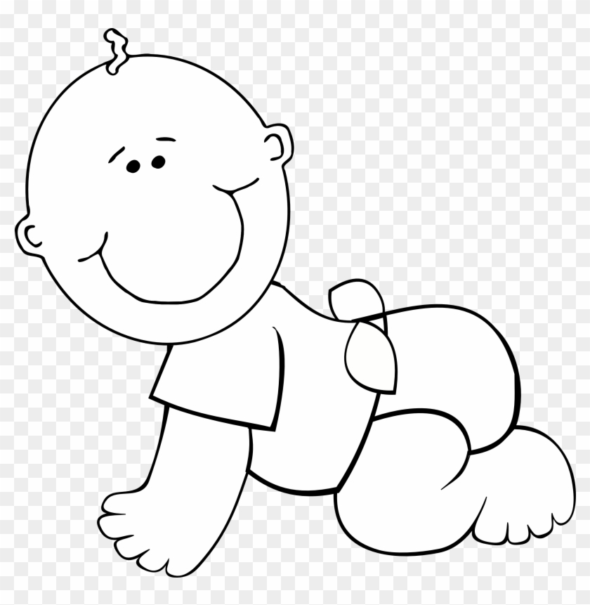 Crawl Clipart - First 1000 Days Baby Clipart #21338