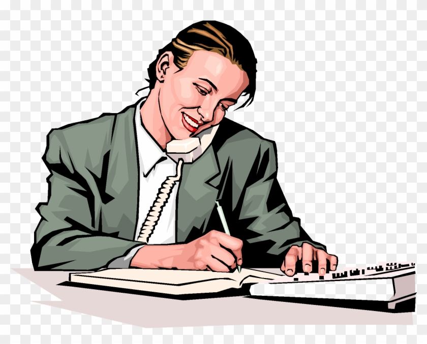 Office Phone Call - Telephone Interview Clip Art #21394