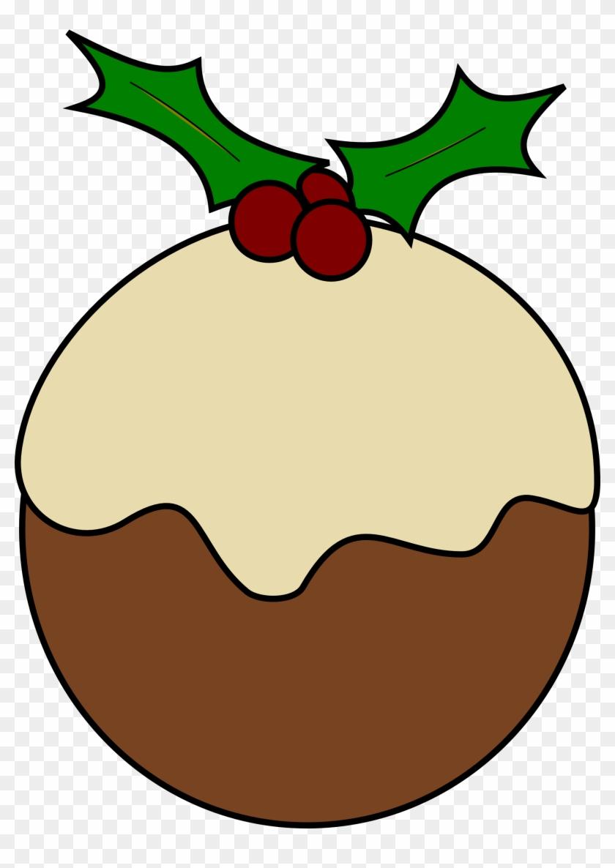 Christmas Book Clipart - Clip Art Christmas Pudding #21406