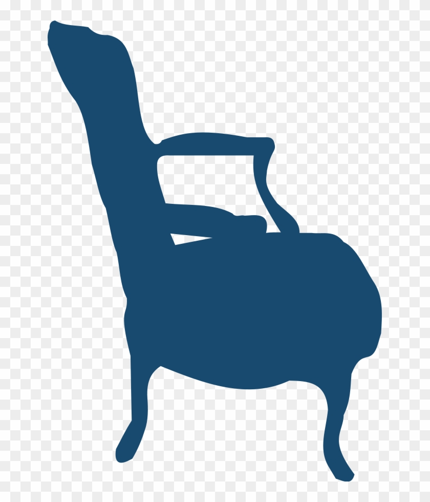 Armchair And Table Clipart, Vector Clip Art Online, - Silhouette Armchair #21401