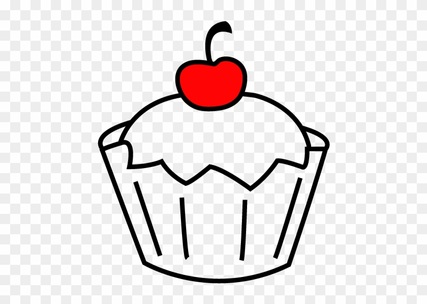 Cupcake Outline - Cupcake Outline Transparent Background #21411