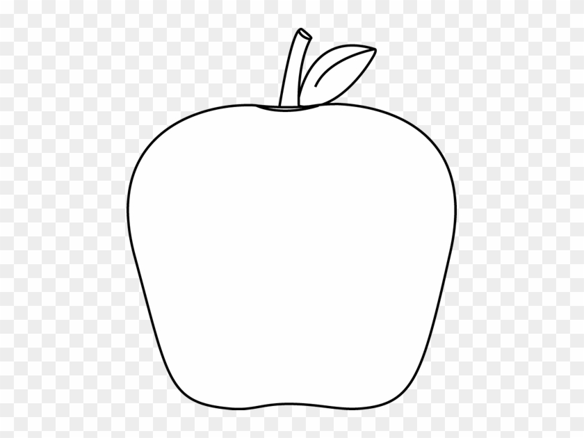 Black And White Apple Clip Art - White Apple Clipart #21420