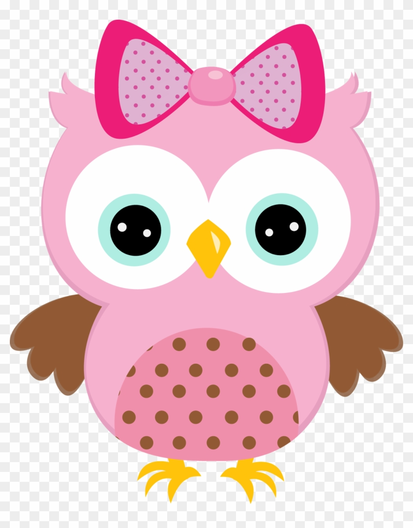 Free Baby Girl Owl Clip Art - Pink Owl Clipart #21434