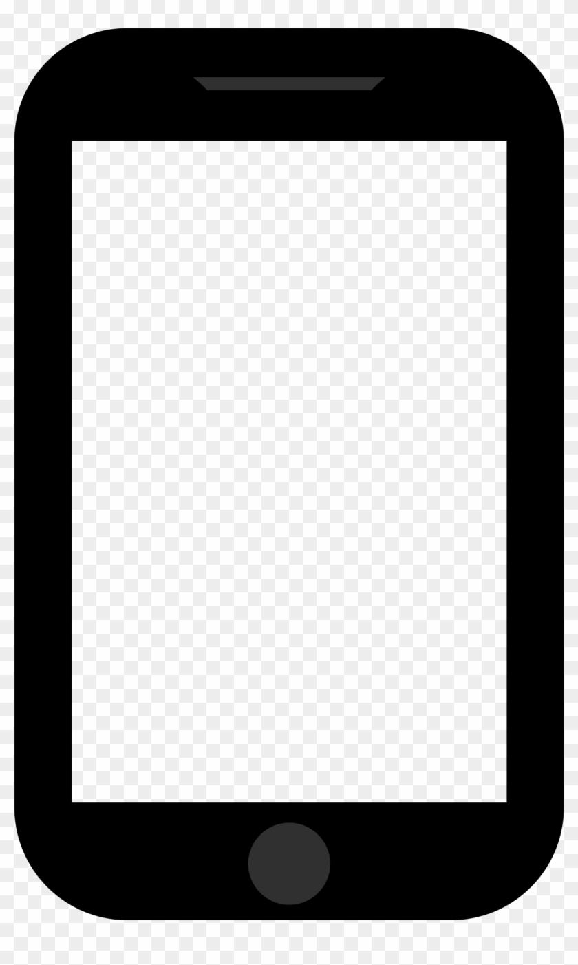 Mobile Clipart Png Images - Iphone Frame Black Png #21458
