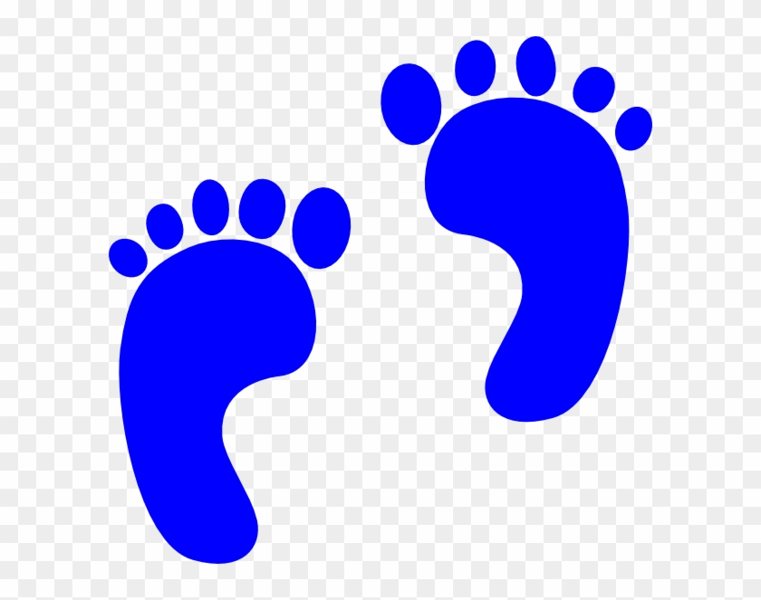 Valuable Inspiration Baby Footprint Clipart Blue Footprints - Blue Baby Footprints #21473