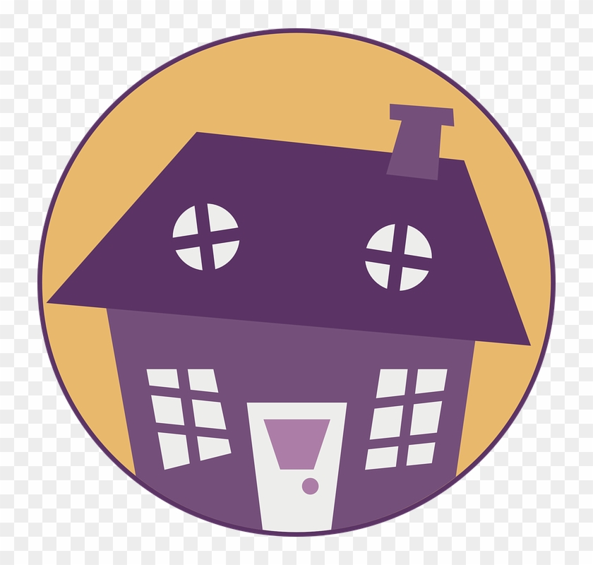 Building, House, Home, Circle, Purple, Little, Color - House Clip Art Free #21490