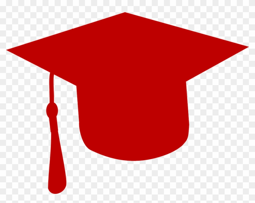 Red Graduation Hat Clipart #21497