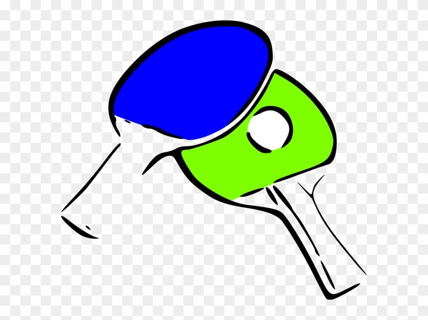 Table Tennis Clipart - Pala De Tenis De Mesa Png Dibujo #21510