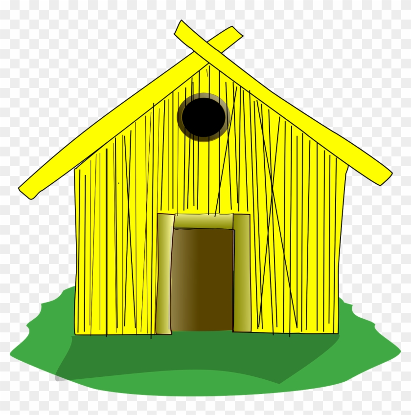 House Of Sticks Clipart - Draw A Straw House #21515
