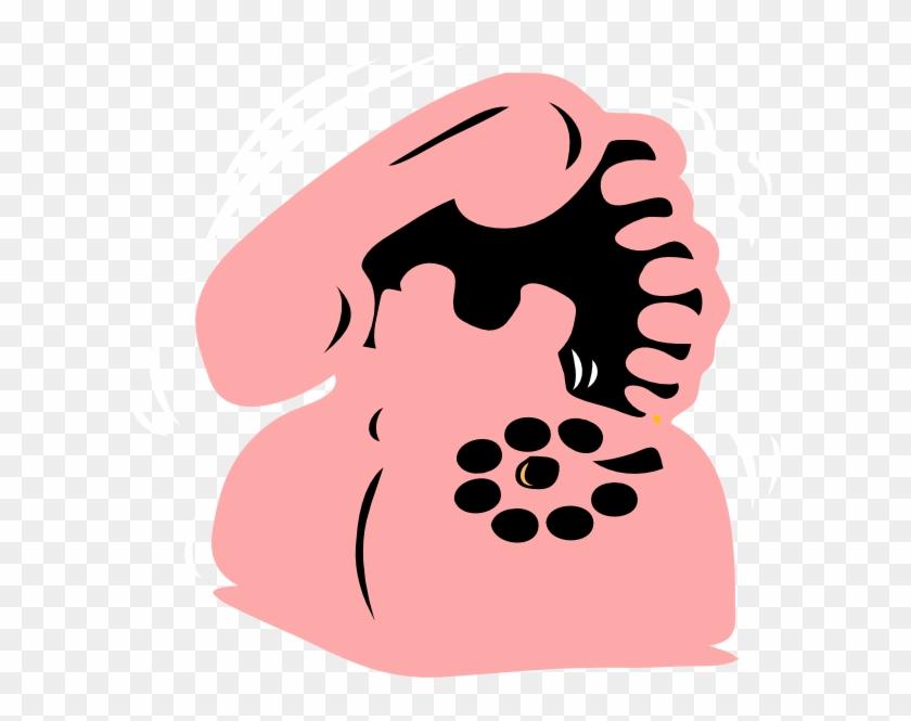 Pink Phone 2 Clip Art - Clip Art #21531
