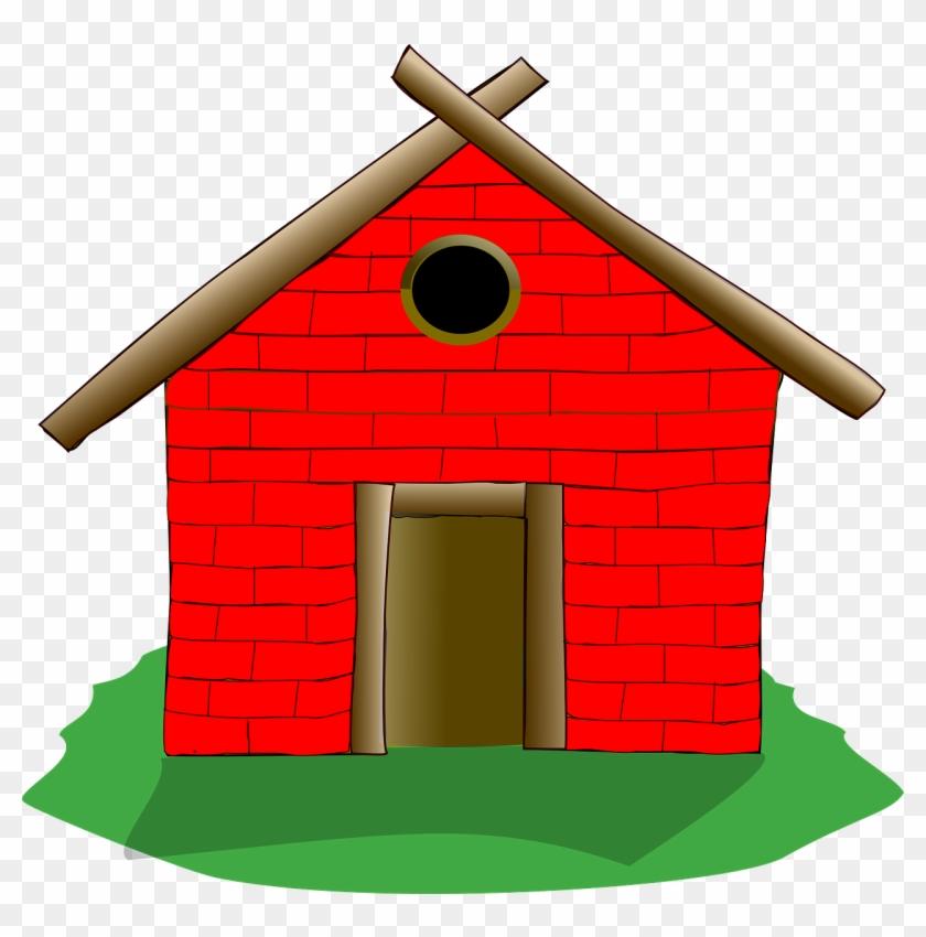 House Clip Art - Three Little Pigs Wood House #21542