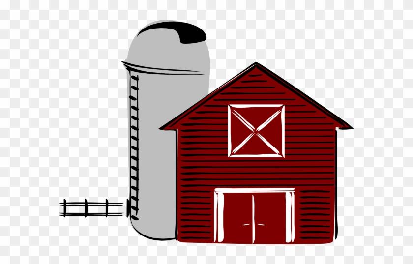 Farm Clipart Transparent - Barn With Silo Clipart #21572